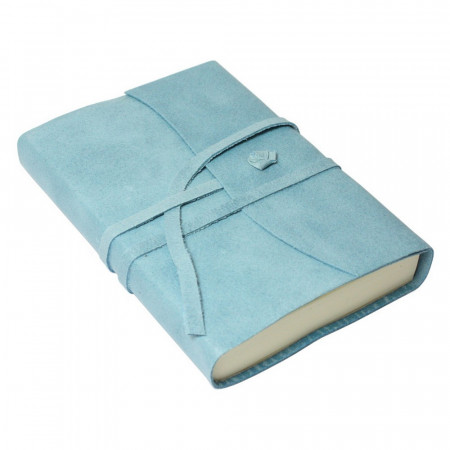Papuro Amalfi Leather Journal - Blue - Small
