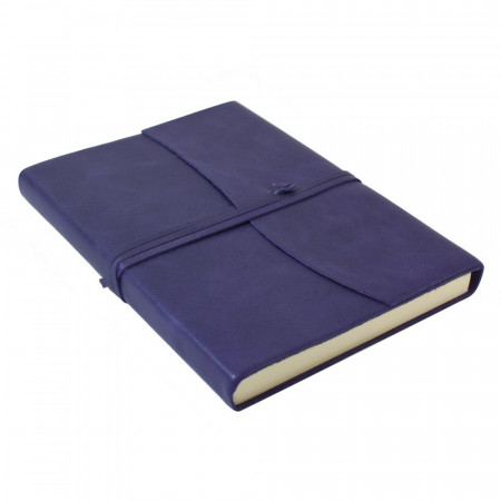 Papuro Amalfi Leather Journal - Aubergine - Large