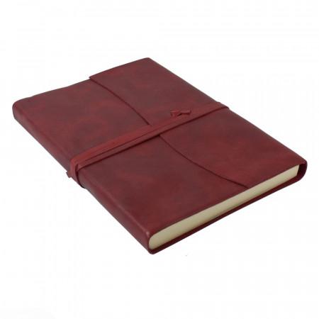 Papuro Amalfi Leather Journal - Red - Large