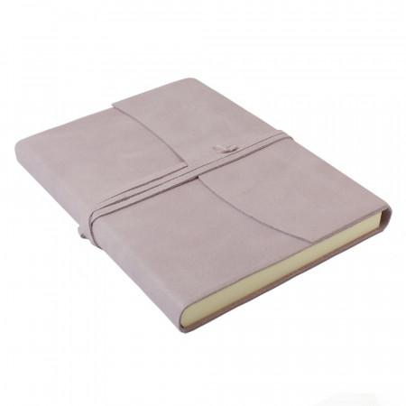 Papuro Amalfi Leather Journal - Soft Pink - Large