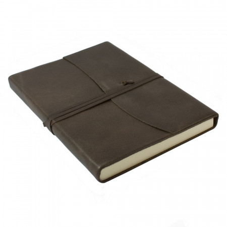 Papuro Amalfi Leather Journal - Chocolate - Large
