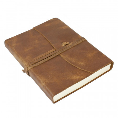 Papuro Amalfi Leather Journal - Tan - Medium