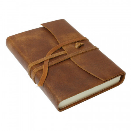 Papuro Amalfi Leather Journal - Tan - Small