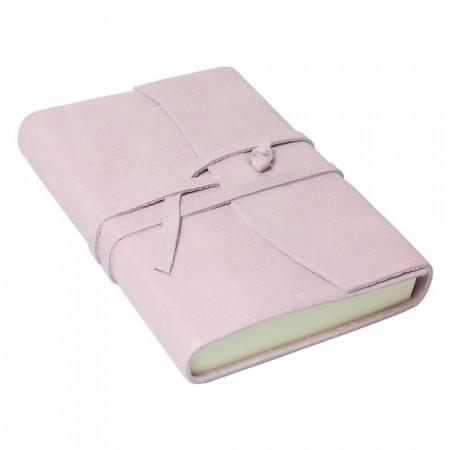 Papuro Amalfi Leather Journal - Soft Pink - Small