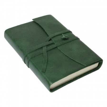 Papuro Amalfi Leather Journal - Green - Small