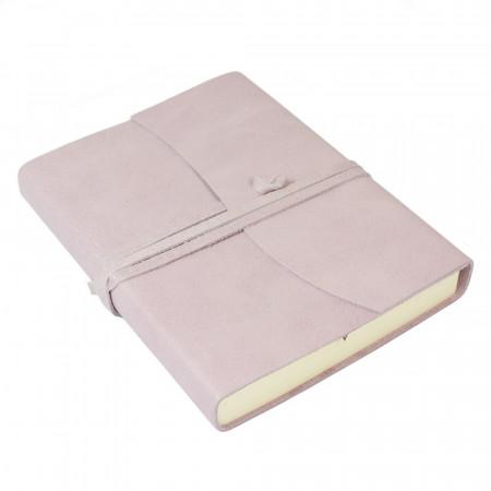 Papuro Amalfi Leather Journal - Soft Pink - Medium