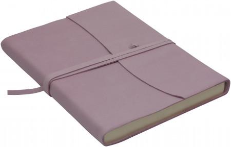 Papuro Amalfi Leather Journal - Pink - Large