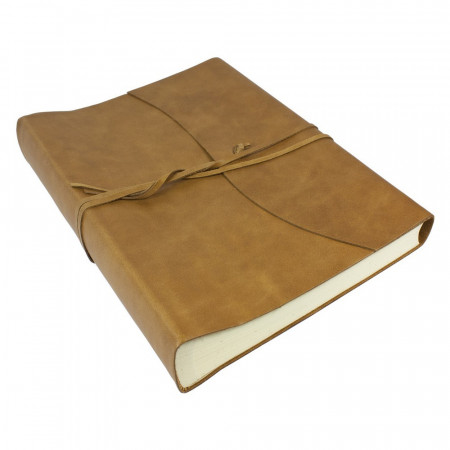 Papuro Amalfi Leather Photo Album - Tan - Large