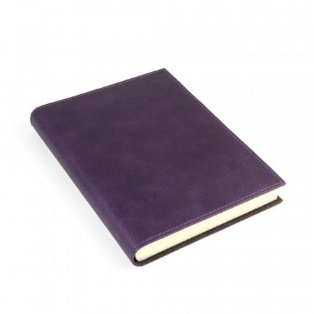 Papuro Capri Leather Journal - Aubergine - Medium