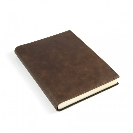 Papuro Capri Leather Journal - Chocolate - Medium