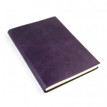 Papuro Capri Leather Journal - Aubergine - Large