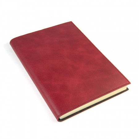 Papuro Capri Leather Journal - Red - Large