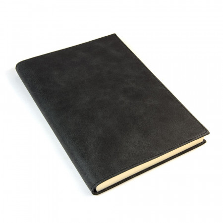 Papuro Capri Leather Journal - Black - Large
