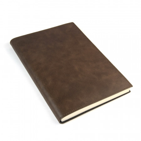 Papuro Capri Leather Journal - Chocolate - Large