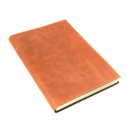 Papuro Capri Leather Journal - Orange - Large