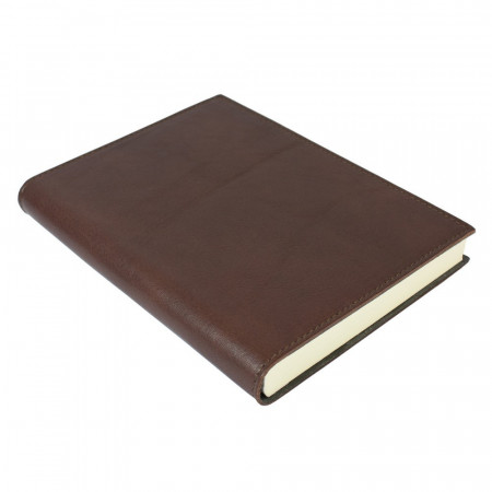 Papuro Firenze Leather Journal - Chocolate - Medium