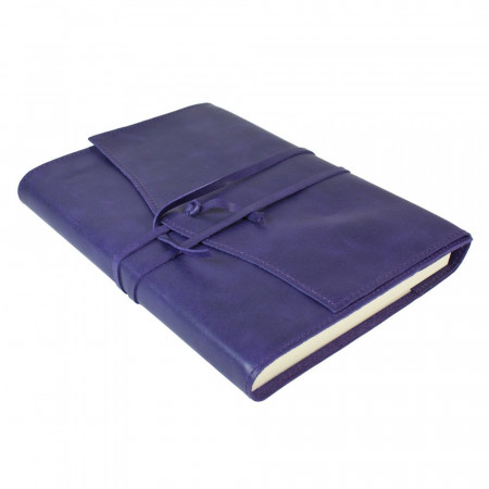 Papuro Milano Large Refillable Journal - Aubergine with Ruled Pages