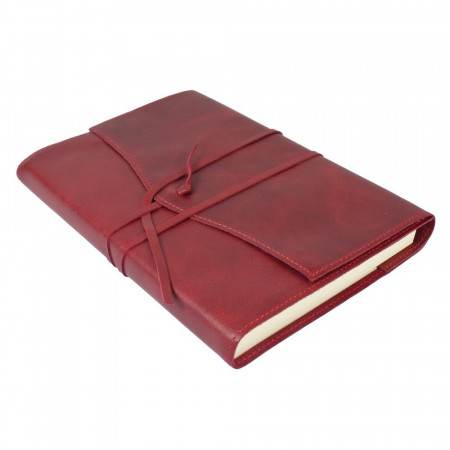 Papuro Milano Large Refillable Journal - Red Address Book