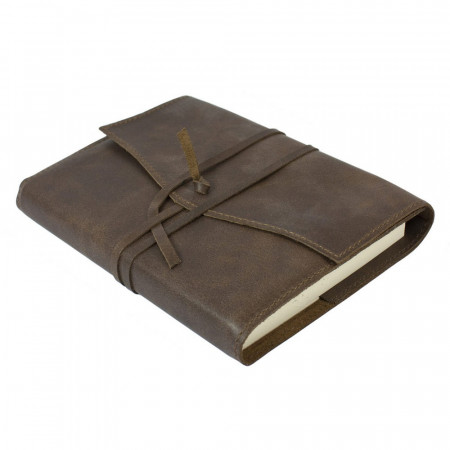 Papuro Milano Medium Refillable Journal - Chocolate with Plain Pages