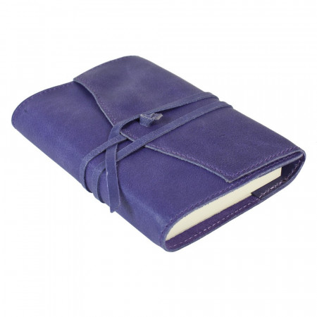 Papuro Milano Small Refillable Journal - Aubergine with Ruled Pages