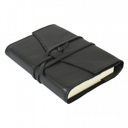 Papuro Milano Small Refillable Journal - Black with Plain Pages