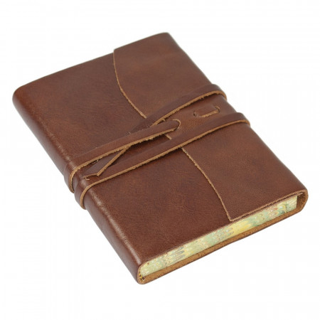 Papuro Roma Leather Journal - Brown - Small