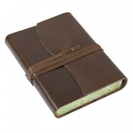 Papuro Roma Leather Journal - Chocolate - Small