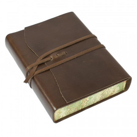 Papuro Roma Leather Journal - Chocolate - Medium