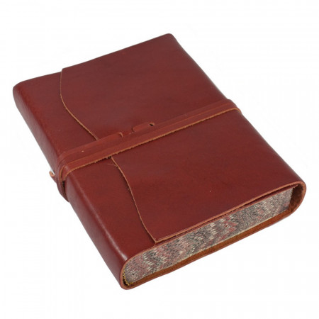 Papuro Roma Leather Journal - Red - Medium