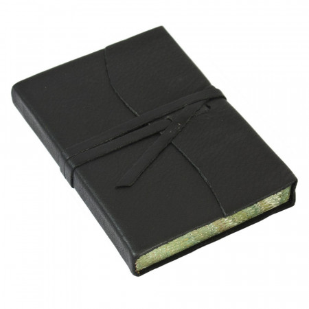 Papuro Roma Leather Journal - Black - Small