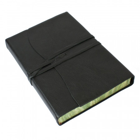Papuro Roma Leather Journal - Black - Large