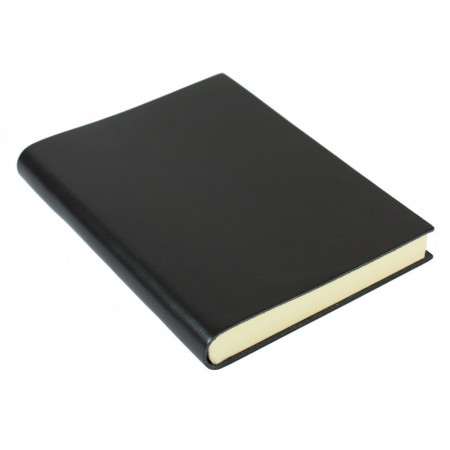 Papuro Torcello Leather Journal - Black - Medium
