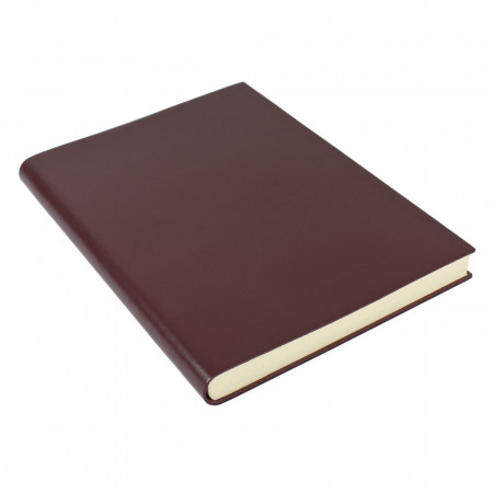 Papuro Torcello Leather Journal - Burgundy - Oversize