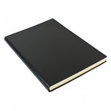 Papuro Torcello Leather Journal - Black - Extra Large