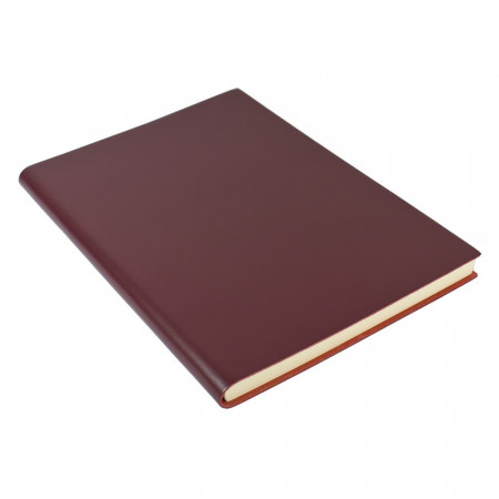 Papuro Torcello Leather Journal - Burgundy - Extra Large