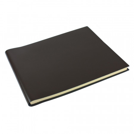 Papuro Torcello Leather Condolence Book - Brown
