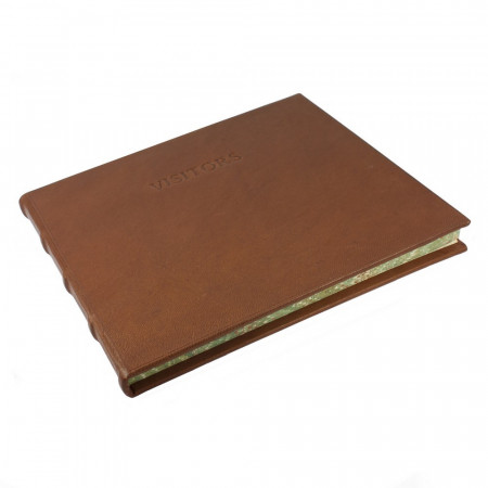 Papuro Large Toscana Visitors Book - Brown