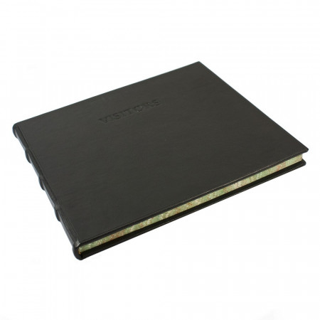 Papuro Large Toscana Visitors Book - Black
