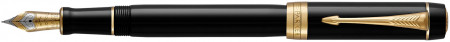Parker Duofold Classic Fountain Pen - Centennial Black Gold Trim