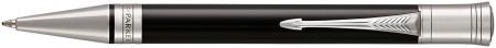 Parker Duofold Classic Ballpoint Pen – Black Chrome Trim