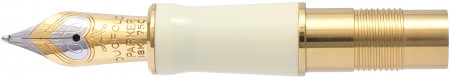 Parker Duofold International White Ivorine Nib - Solid 18K Gold