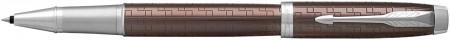 Parker IM Premium Rollerball Pen - Brown Chrome Trim