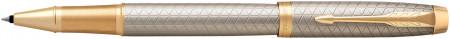 Parker IM Premium Rollerball Pen - Warm Silver & Gold