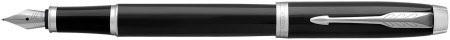 Parker IM Fountain Pen - Gloss Black Chrome Trim