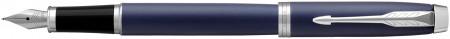 Parker IM Fountain Pen - Blue Lacquer Chrome Trim