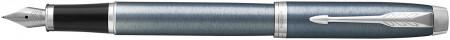 Parker IM Fountain Pen - Light Blue Grey Chrome Trim