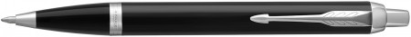 Parker IM Ballpoint Pen - Gloss Black Chrome Trim