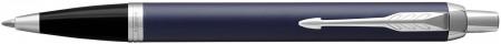 Parker IM Ballpoint Pen - Blue Lacquer Chrome Trim