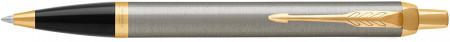 Parker IM Ballpoint Pen - Brushed Metal Gold Trim