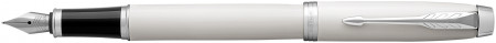 Parker IM Fountain Pen - White Chrome Trim